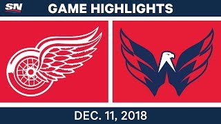 NHL Highlights | Red Wings vs. Capitals - Dec 11, 2018