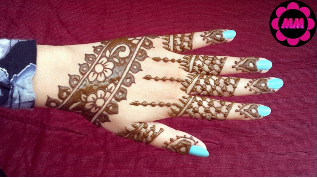 Mehndi Henna Care : Simple reverse henna design easy floral mehendi tattoo beautiful