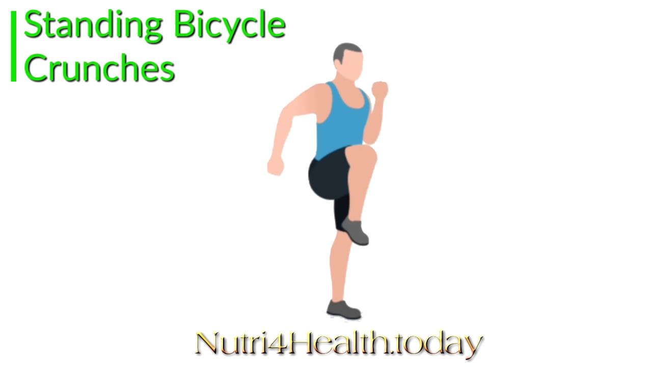 Workout Single Exercise Standing Bicycle Crunches Youtube
