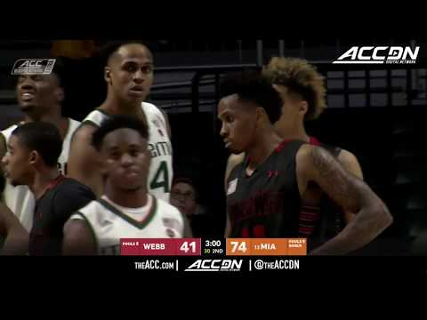 Gardner-Webb vs Miami College Basketball Condensed Game 2017