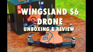 WINGSLAND S6 DRONE   Unboxing & Review   Android Application Interface   Budget Drone under $200