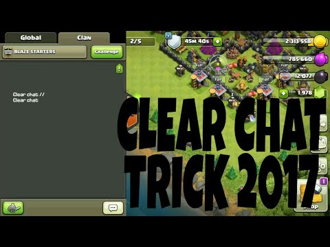 Clash of clan clear chat tricks 2018 ( 100%) real
