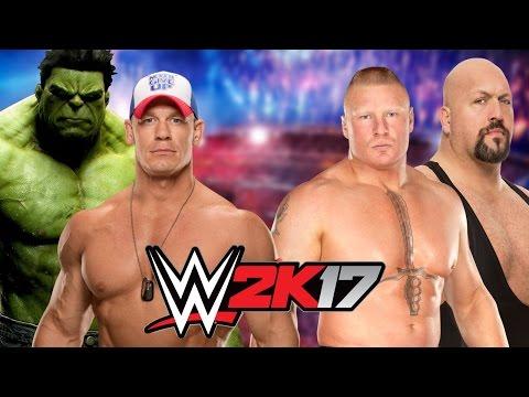 Hulk and John Cena vs Brock Lesnar and Big...