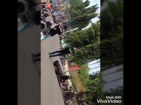 Rombongan vespa extreme at PALAS 2016 (Pangandaran Lautan Scooter)