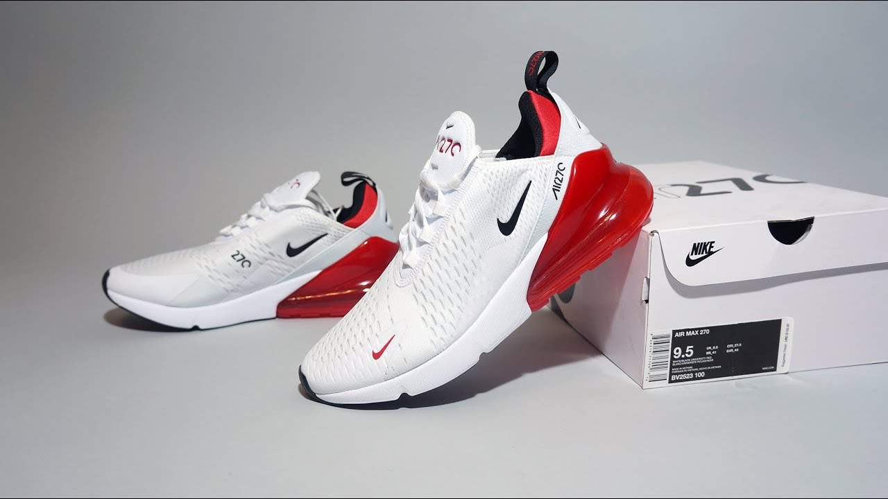 finest selection b154c 07de1 Nike Air Max 270 White University Red BV2523-100