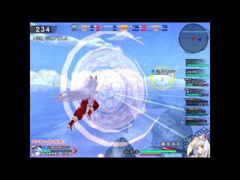Touhou Sky Arena - Mokou gameplay