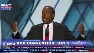 Dr. Ben Carson Gives Inspirational Speech To GOP Convention Crowd