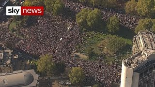 Hundreds of thousands march for a people's vote in London thumbnail