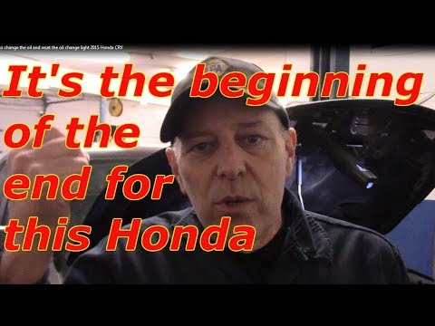 How to change the oil and filter 2015 Honda CRV