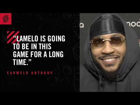 """Carmelo Anthony: """"LaMelo is gonna be in this game for a long time"""" 