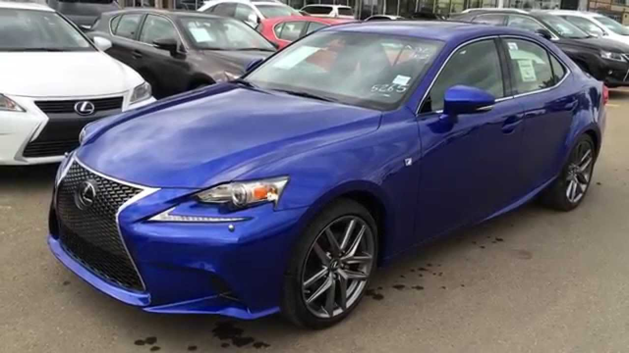 new ultrasonic blue 2015 lexus is 250 awd f sport series 3 review sdn auto lexus of edmonton. Black Bedroom Furniture Sets. Home Design Ideas