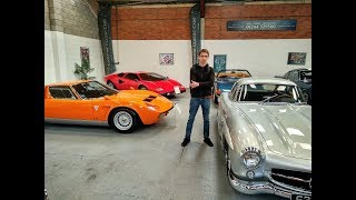 Epic Classic Cars garage in Wales. Cheshire classic cars ltd