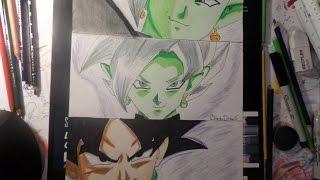Como dibujar la fusion de zamasu y black | How to draw fusion between zamasu and black | BladexDraws