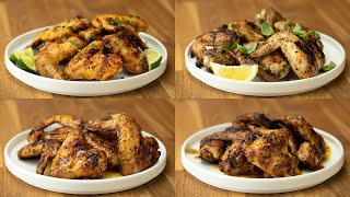 Grilled Wings 4 Ways Using Tasty Spices • Tasty
