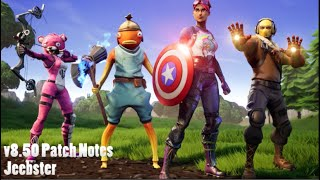 v8.50 Patch Notes (FORTNITE)