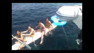 catamaran ibiza surfer girls
