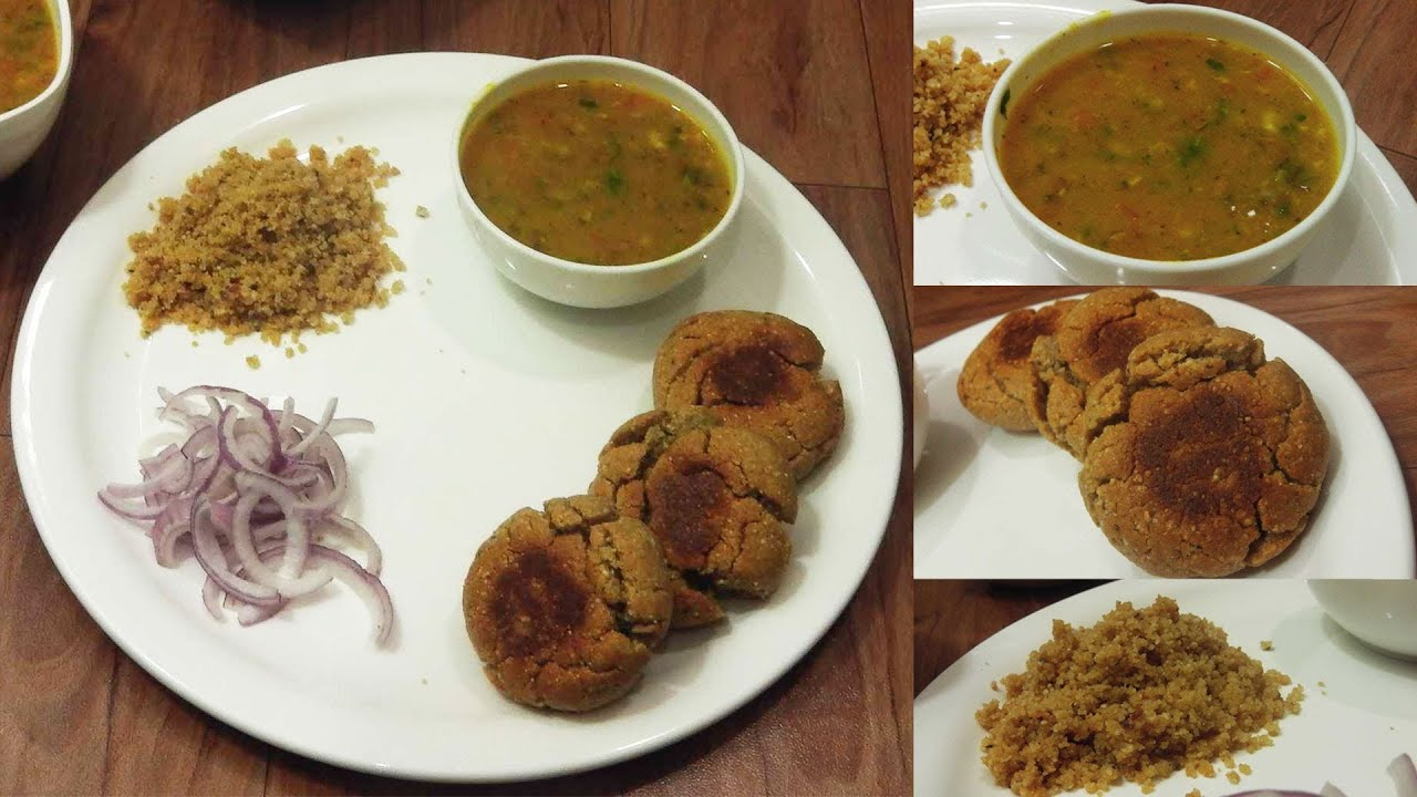 Dal Bati Churma - Rajasthani Food - Winter Special - YouTube