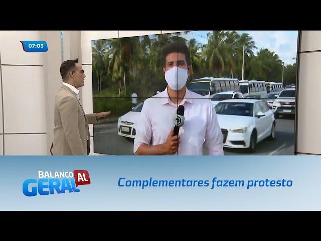 Complementares fazem protesto em várias rodovias de Alagoas
