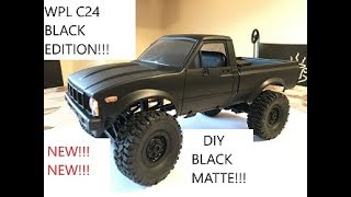 DIY RC WPL C24 BLACK EDITION wpl paint black with plasti dip