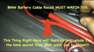 BMW RECALL THIS WILL KILL ALL YOUR ELECTRICS GO GET THIS FREE FIX MUST WATCH