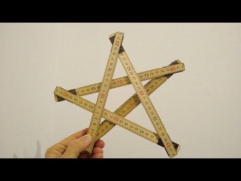 Zollstock Stern Trick Meterstab folding ruler star tricks yardstick Anleitung tutorial