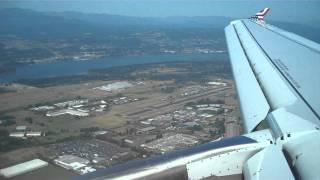 Virgin America A320 Approach and Landing at Portland, Oregon (KPDX)
