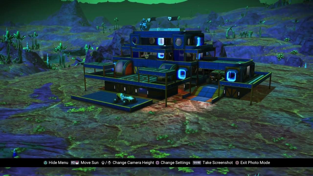 no man 39 s sky base design x2 garage youtube. Black Bedroom Furniture Sets. Home Design Ideas