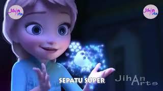 Sepatu Super Lagu Anak Elsa Frozen