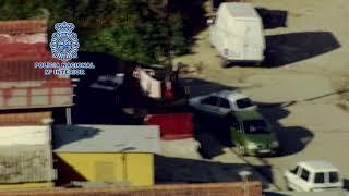 Desmantelado un punto de venta de droga en el barrio malagueño de Los Asperones
