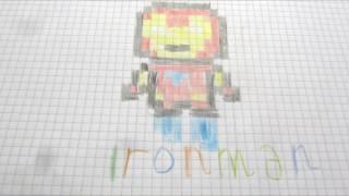 Как нарисовать Железного человека по пикселям How to draw Iron Man Pixel(Как нарисовать Железного человека по пикселям How to draw Iron Man Pixel Больше видео https://goo.gl/AKsHt0 Спасибо, что смотрит..., 2016-11-13T19:33:31.000Z)