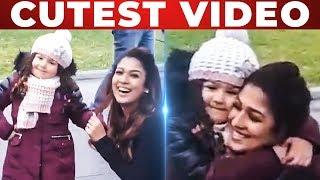 Nayanthara Playing with Cute Baby at SK13 Shooting Spot! Siva Karthikeyan Video