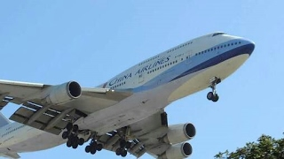 Ahmedabad airport biggest airplane landing Boeing 747