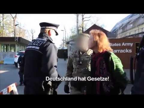 Meine Festnahme vor AFRICOM in Stuttgart