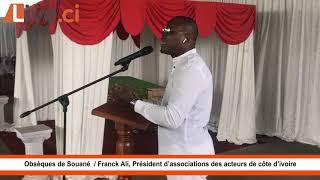 Obsèques de Souané  : Franck Vlehi, Président d'associations des acteurs de côte d'ivoire