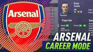 94 POTENTIAL SCOUTED FUTURE STAR!!! FIFA 18 ARSENAL CAREER MODE #14