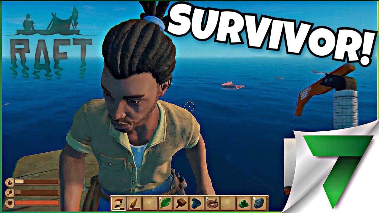 WE FOUND A SURVIVOR! Ep  3 | Raft Gameplay