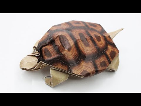 How to make Origami Turtle (Robert J. Lang), Origami Animals, Paper Crafts Work DIY Ideas Art Decor