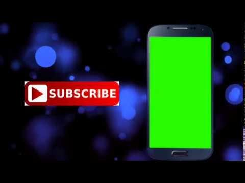 No copywrite full animated   green screen mobile frame