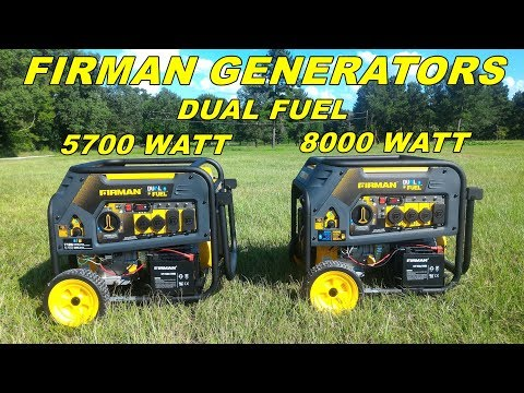 Firman Generators 5700 and 8000 watts models - Review