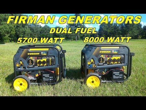 Firman dual fuel Generators 5700 and 8000 watts models - Review