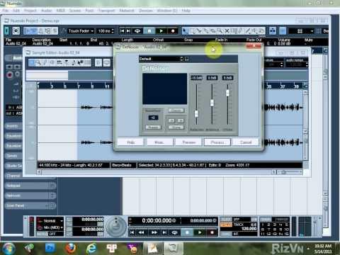 Hướng dẫn thu âm bằng Nuendo 3.