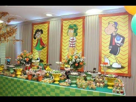Fiesta del chavo del ocho 8 2017 party mesa de dulces for Decoracion de mesas dulces infantiles