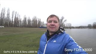 Sony x3000 против GoPro 4Silver тест