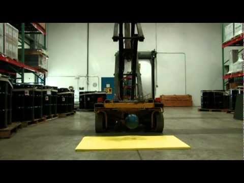 PORON® XRD™ Forklift test
