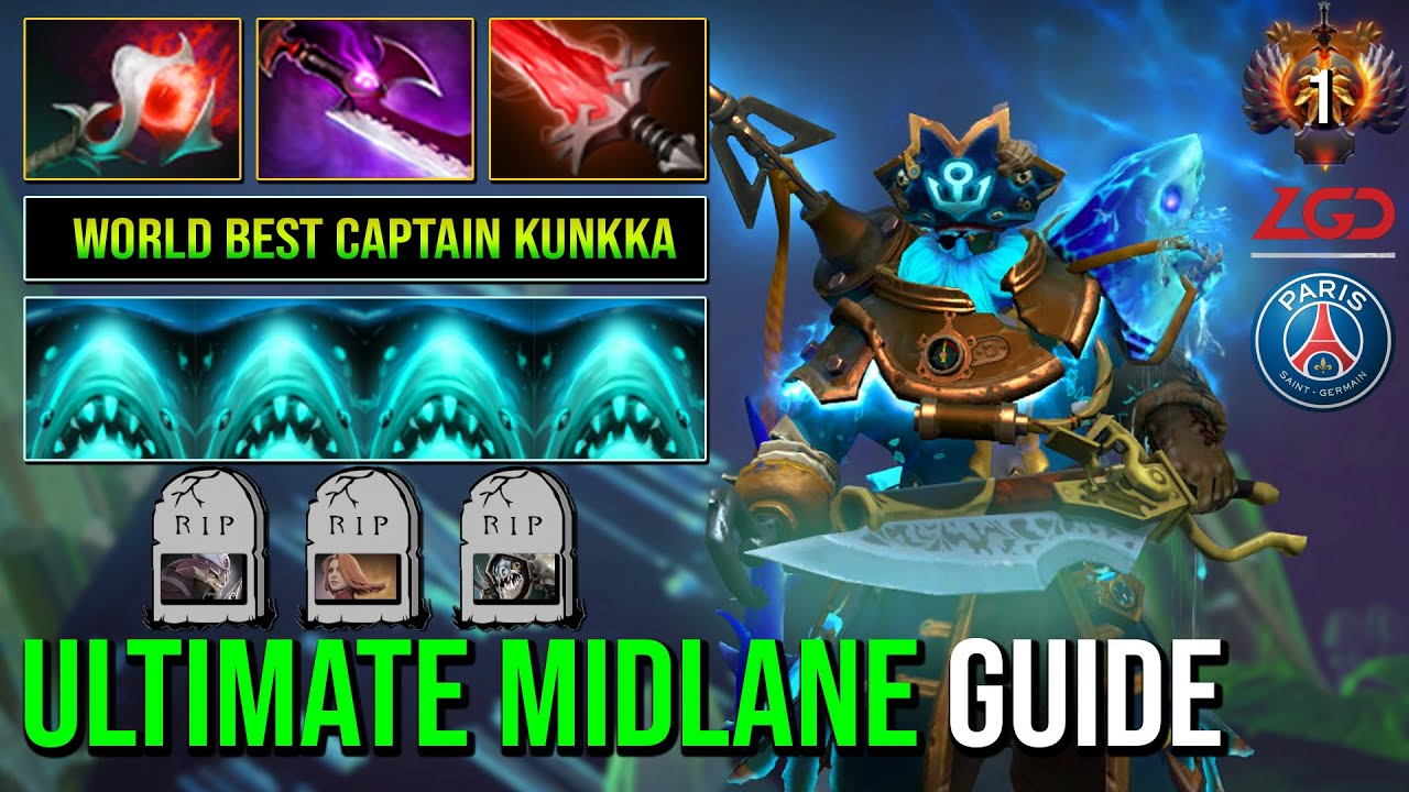 Download WORLD BEST Kunkka With Ultimate Midlane Guide 100% Dominated All Team Fight 7.30d Dota 2
