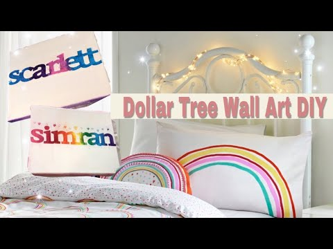 Dollar Tree DIY Wall Art - YouTube