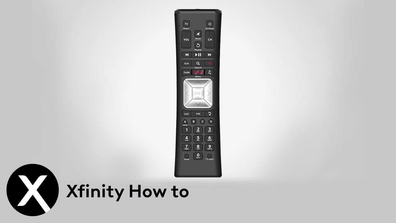 Learn the Xfinity X1 Remote Control Layout