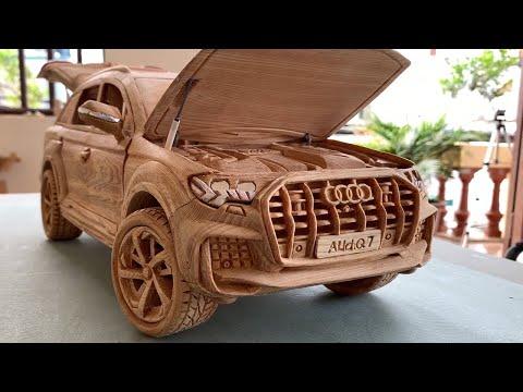 Wood Carving – Audi Q7 2021 (New Model) – Wooden Car