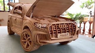 Wood Carving - Audi Q7 2021 (New Model) - Wooden Car
