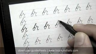How to write in cursive - br